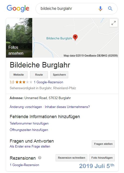 Google-Suche Bildeiche Burglahr