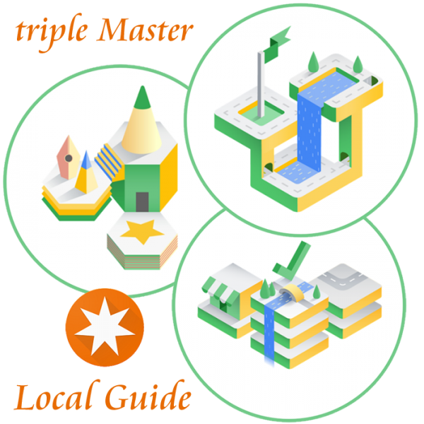 Local Guide Master-degree triple Reviewer and Fact Finder and Trailblazer