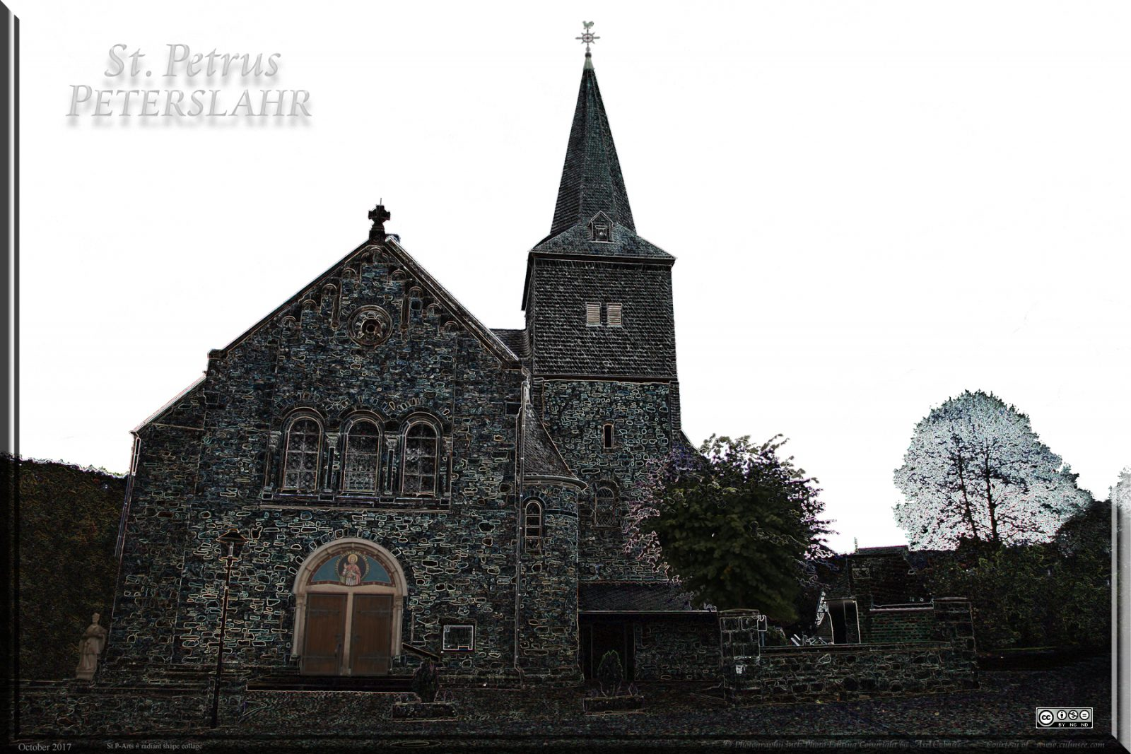 Peterslahr Kirche St. Petrus Photo Editing by Axel Culmsee