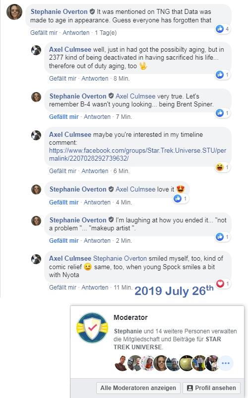 facebook group Star Trek Universe comment 2019 July