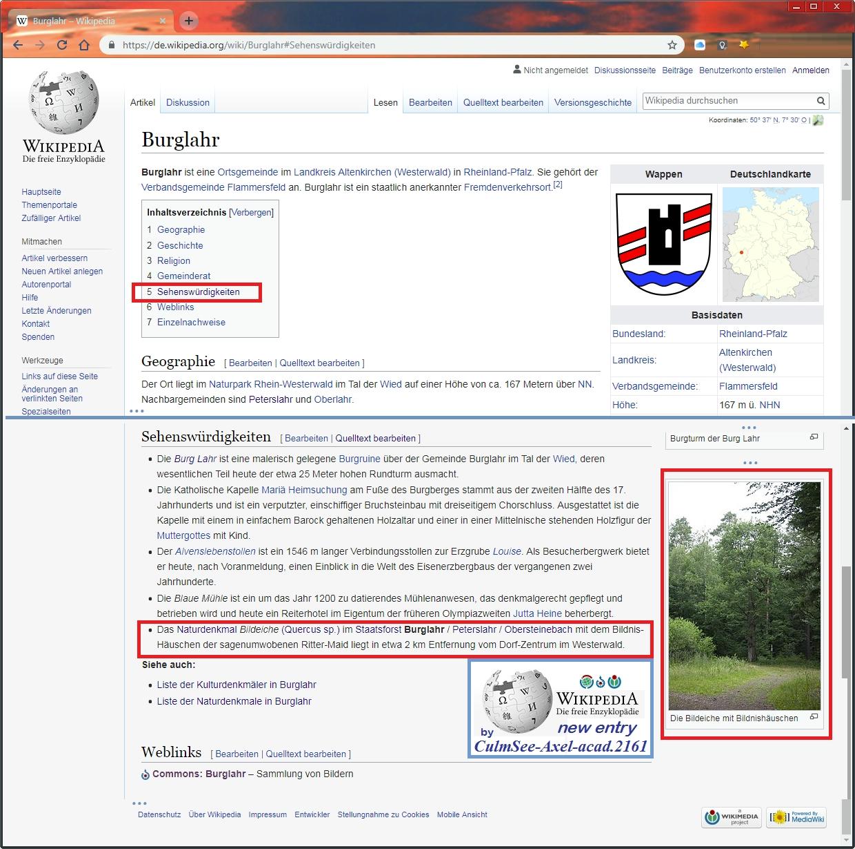 Wikipedia Burglahr Sehenswuerdigkeiten Bildeiche