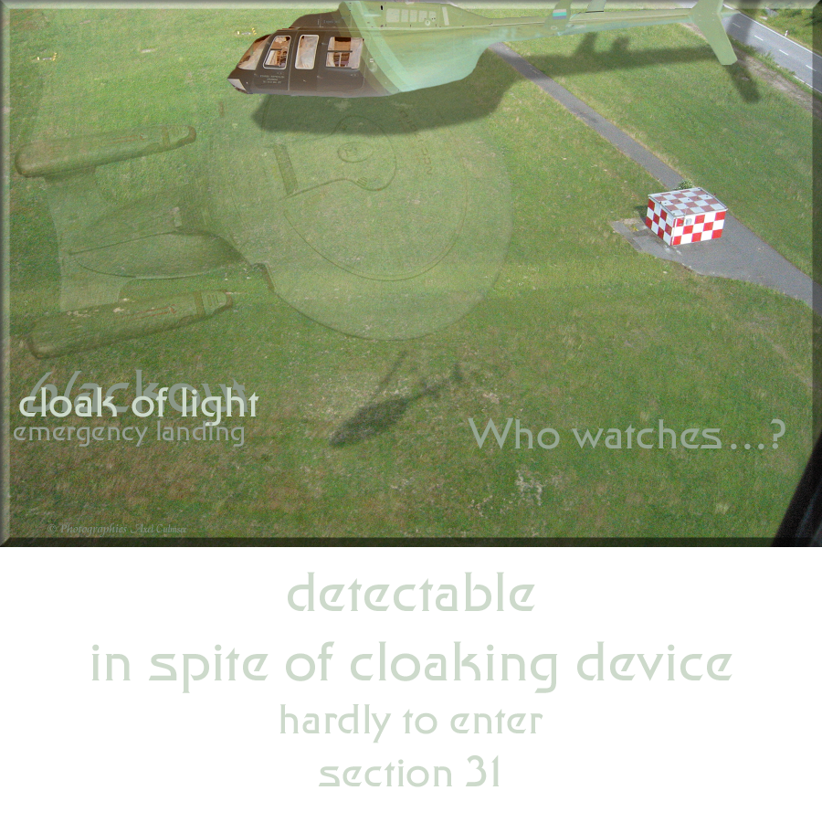 1701-D detectable in spite of cloaking device hardly to enter section 31