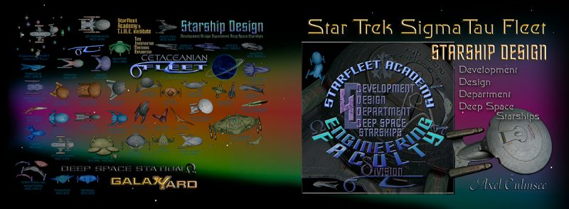 Star Trek SigmaTau Fleet starship design Development Design Department Deep Space Starships Amazon kdp edition Cover