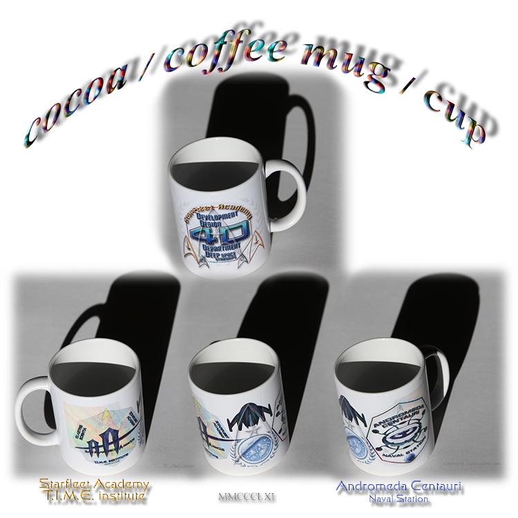 cocoa coffee mug cup Starfleet Academy Andromeda Centauri naval station