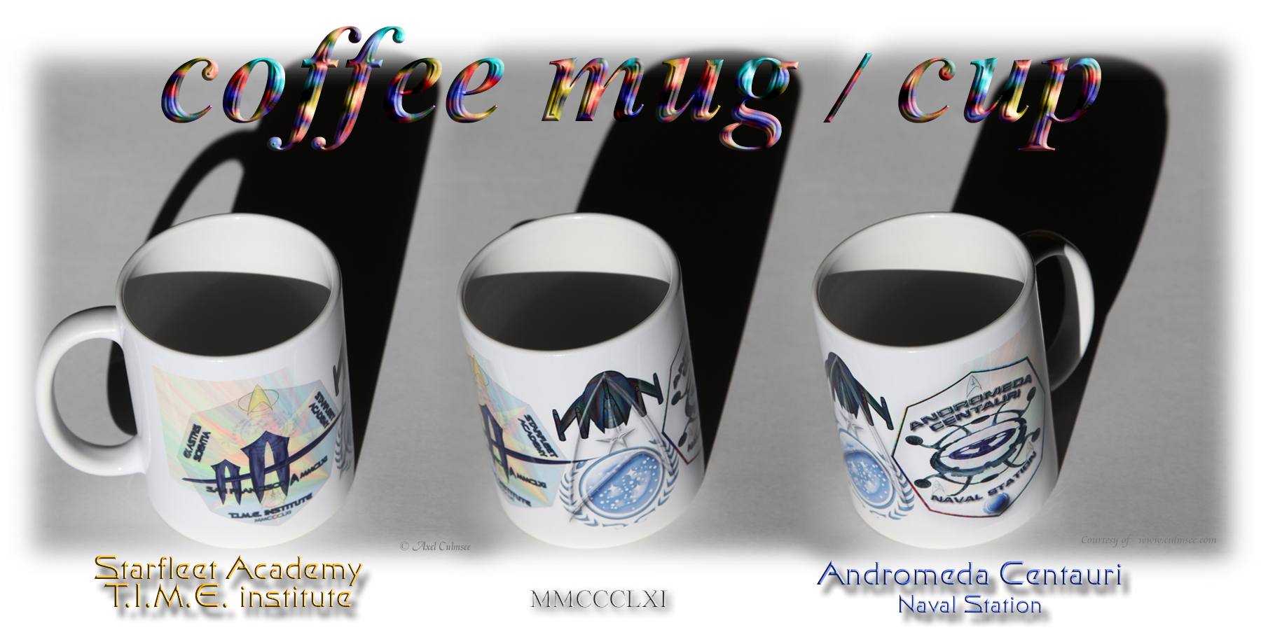 coffee mug cup Starfleet Academy Andromeda Centauri naval station