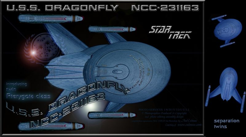 USS DRAGONFLY NCC-231163 Pterygota class separation twins