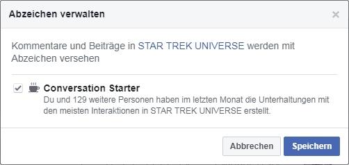 Star Trek Universe membership at fb group