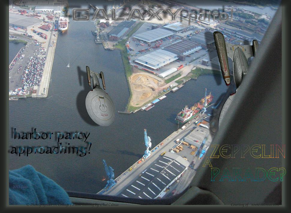 a NCC-1701-D zeppelin parade