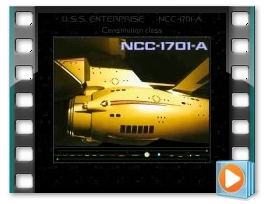NCC-1701-A passing close 1 minute still animation
