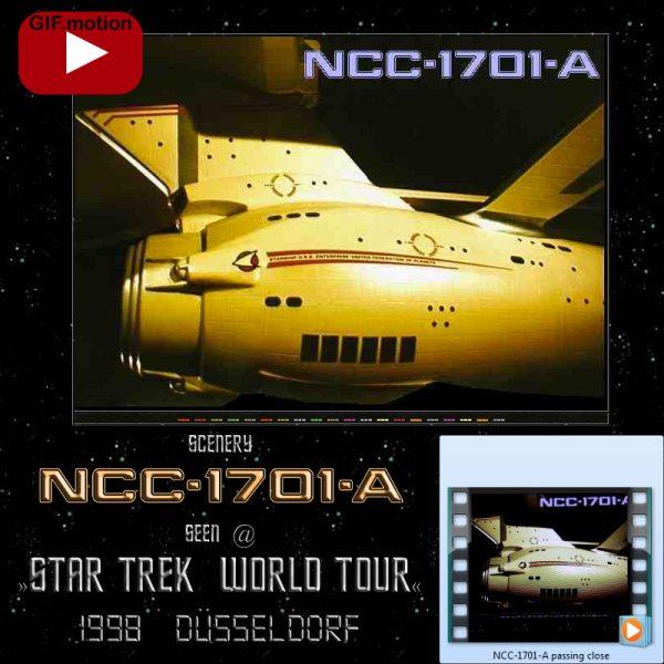 NCC-1701-A sidelong cut seen during Star Trek World Tour Duesseldorf 1998
