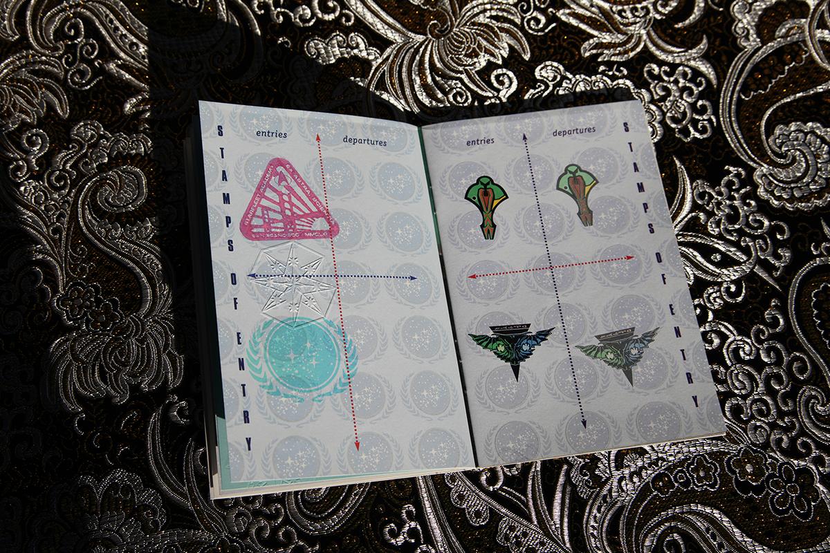 Star Trek Federation Passport - destination seals