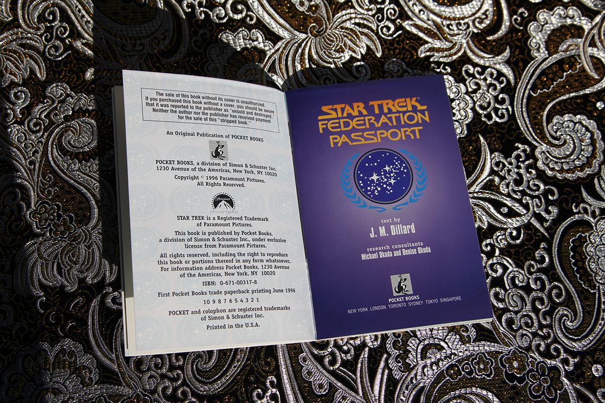 Star Trek Federation Passport - imprint