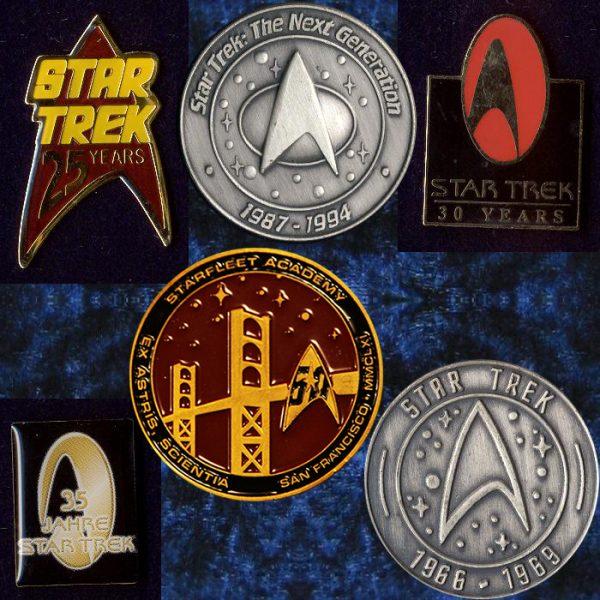 Star Trek TOS jubilee pins