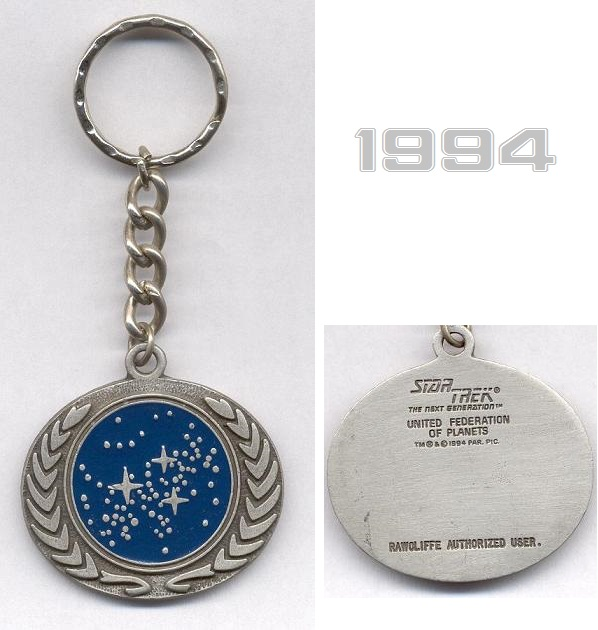 United Federation of Planets keyring pendant from 1994
