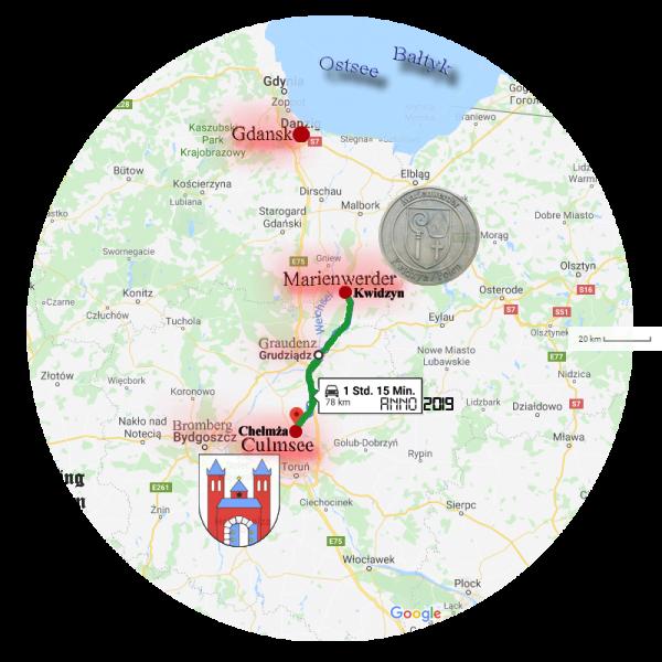 Kwidzyn Chelmza Culmsee Marienwerder Route