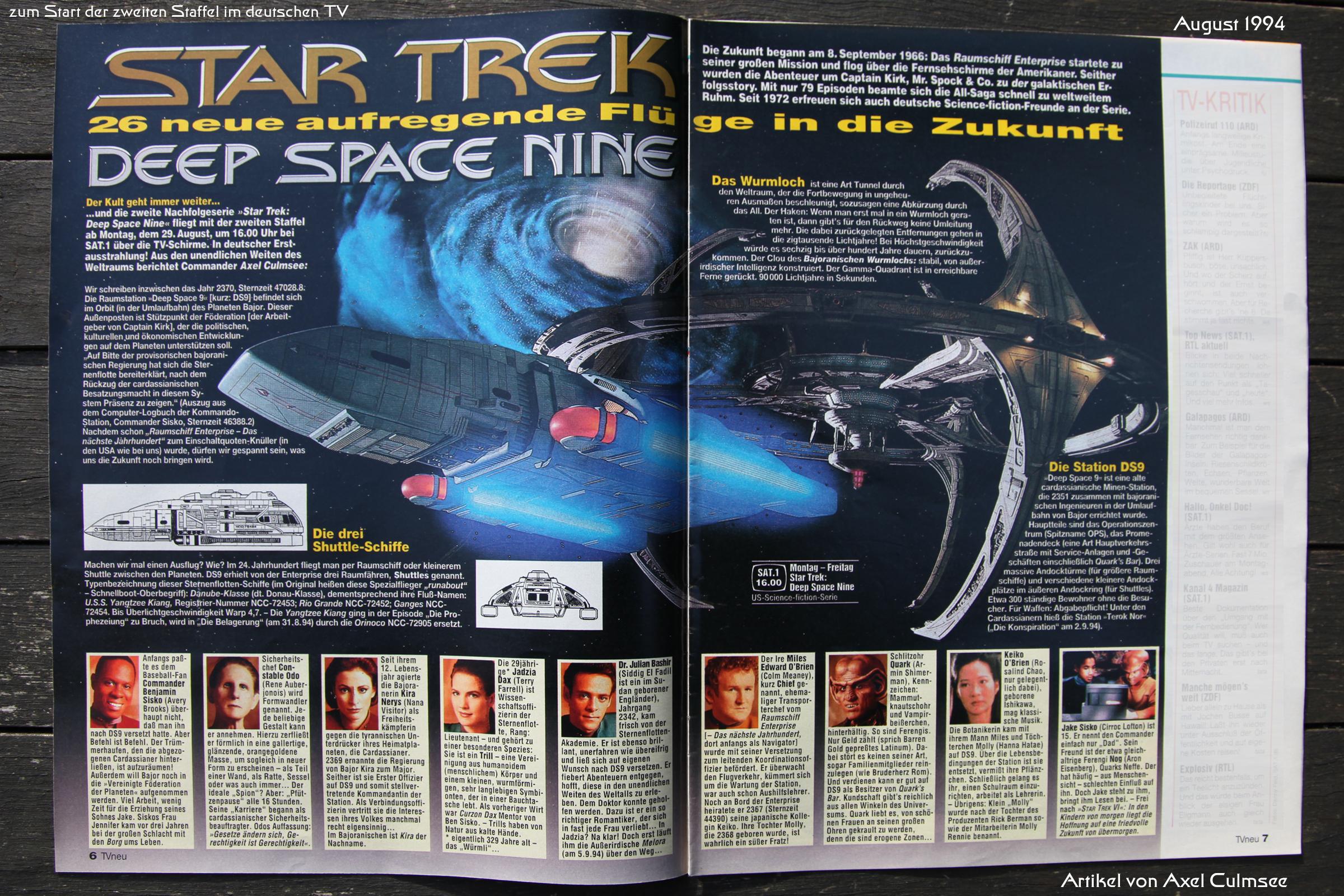 DS9-Artikel Doppelseite in TVneu 34-1994