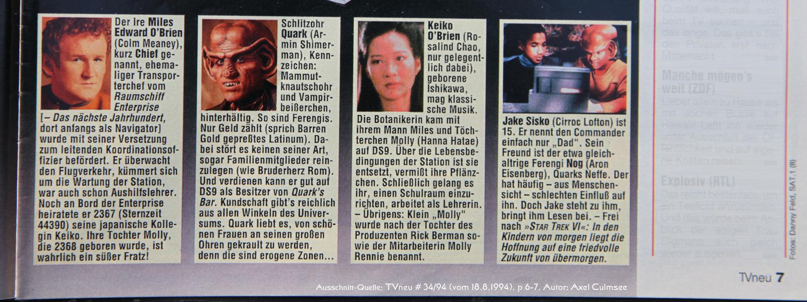 DS9-Artikel in TVneu 34-1994 Ausschnitt Crew 2