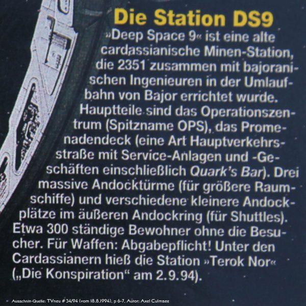 DS9-Artikel in TVneu 34-1994 Ausschnitt Station