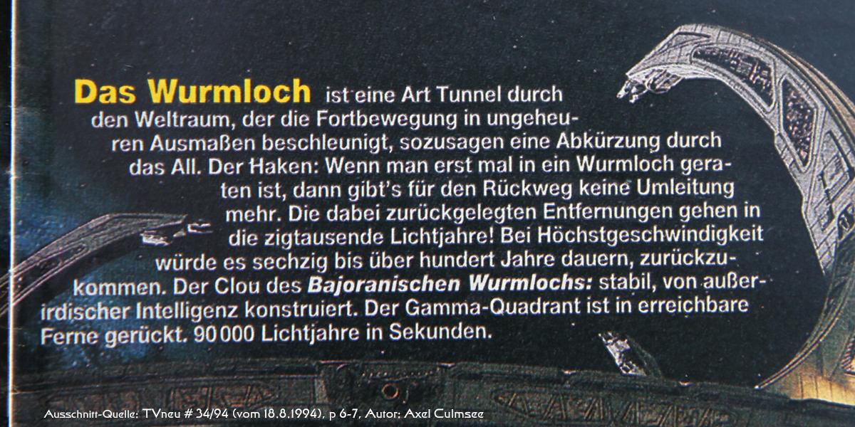 DS9-Artikel in TVneu 34-1994 Ausschnitt Wurmloch