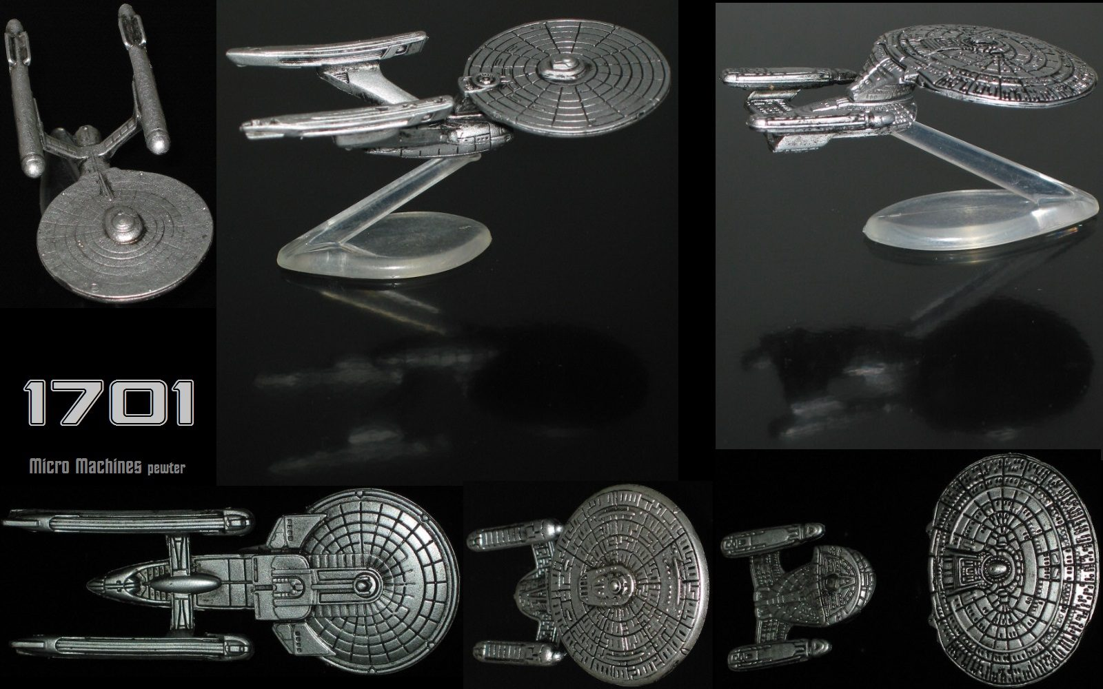 ENTERPRISE 1701 Micro Machines pewter edition