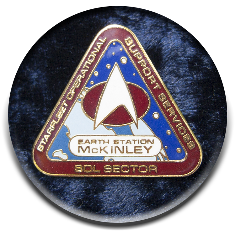 Earth station McKinley pin from last millennium