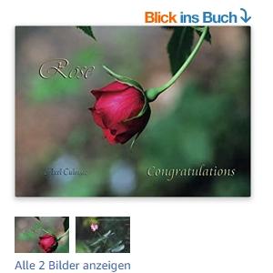 Rose Congratulations Blick ins Buch