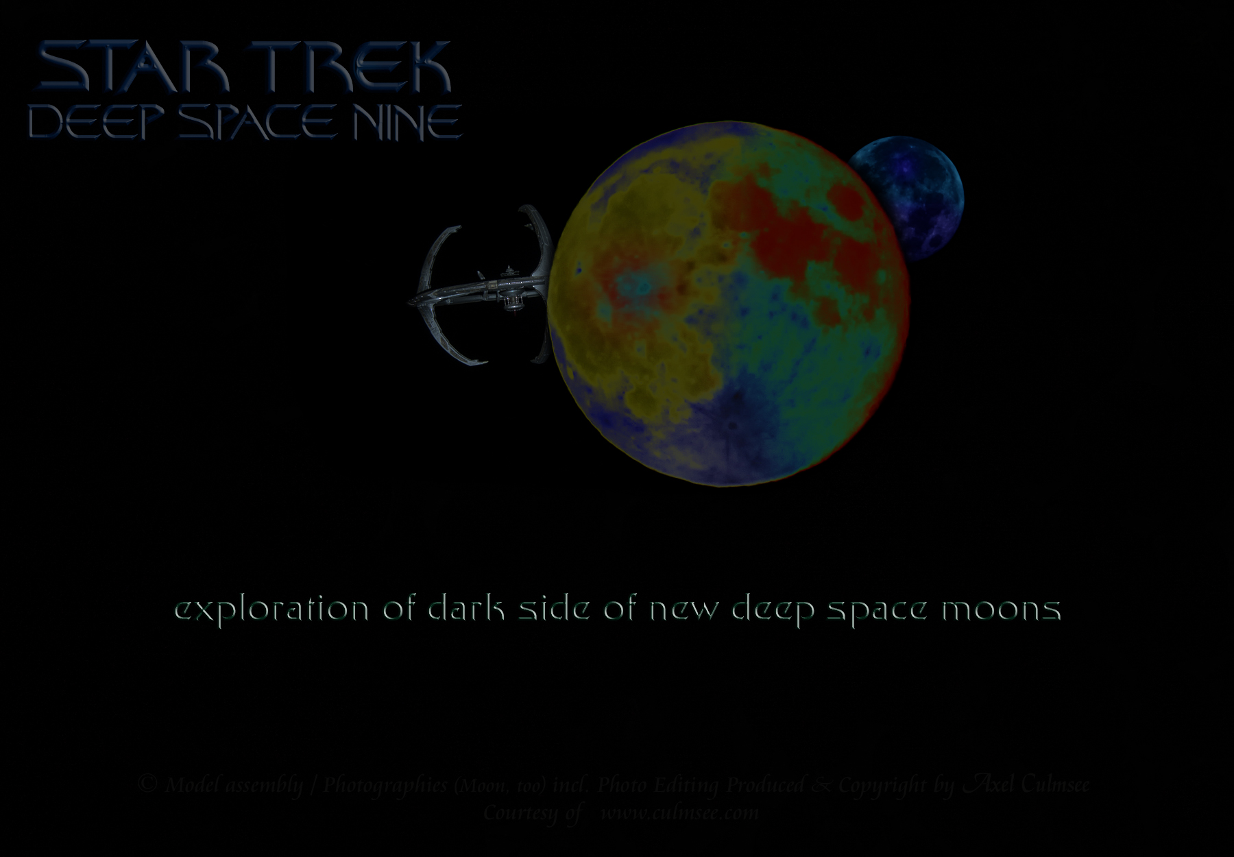 DS9 exploration of dark side of new deep space moons