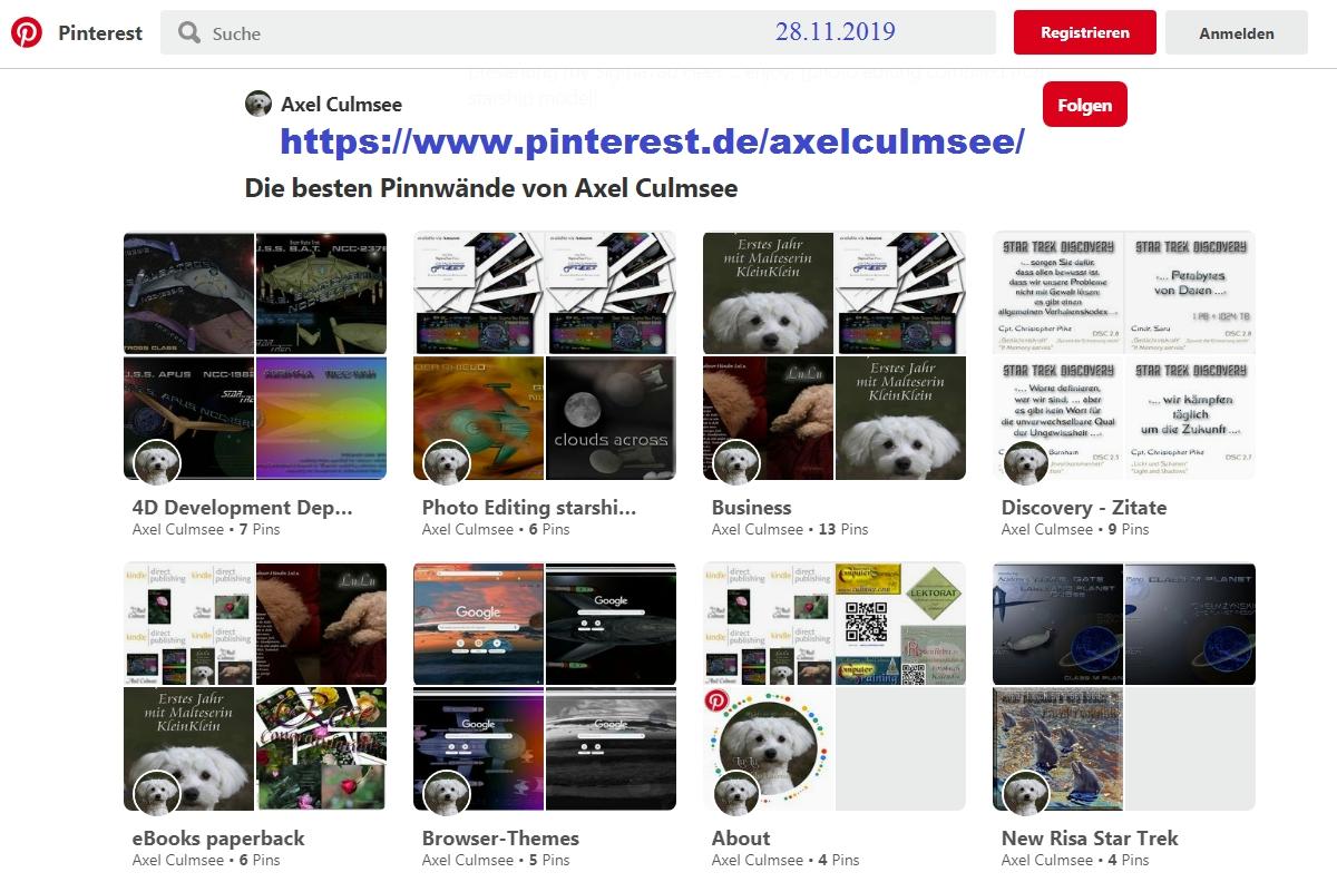 Pinterest Axel Culmsee Status 28.11.2019