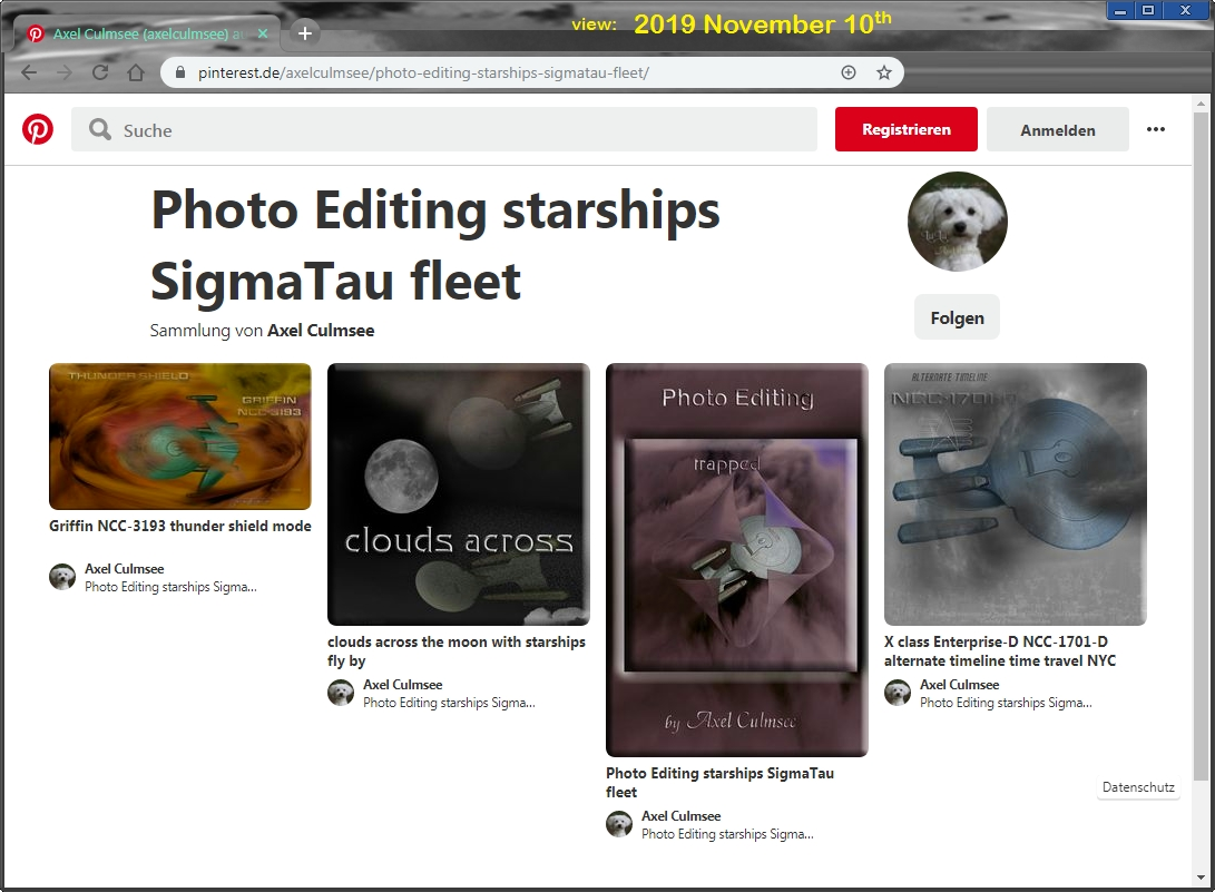 Pinterest Axel Culmsee Photo Editing starships SigmaTau fleet