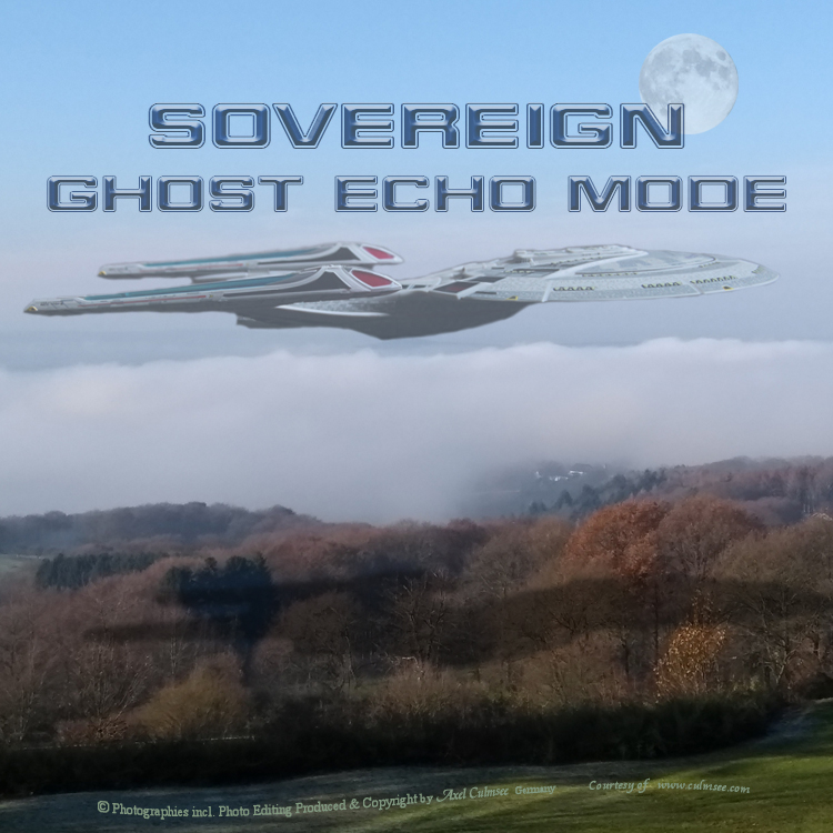 Sovereign class ghost echo mode across hinterland county San Francisco shipyard testing ground NCC-1701-E