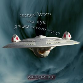 Enterprise-E escape from water storm planet