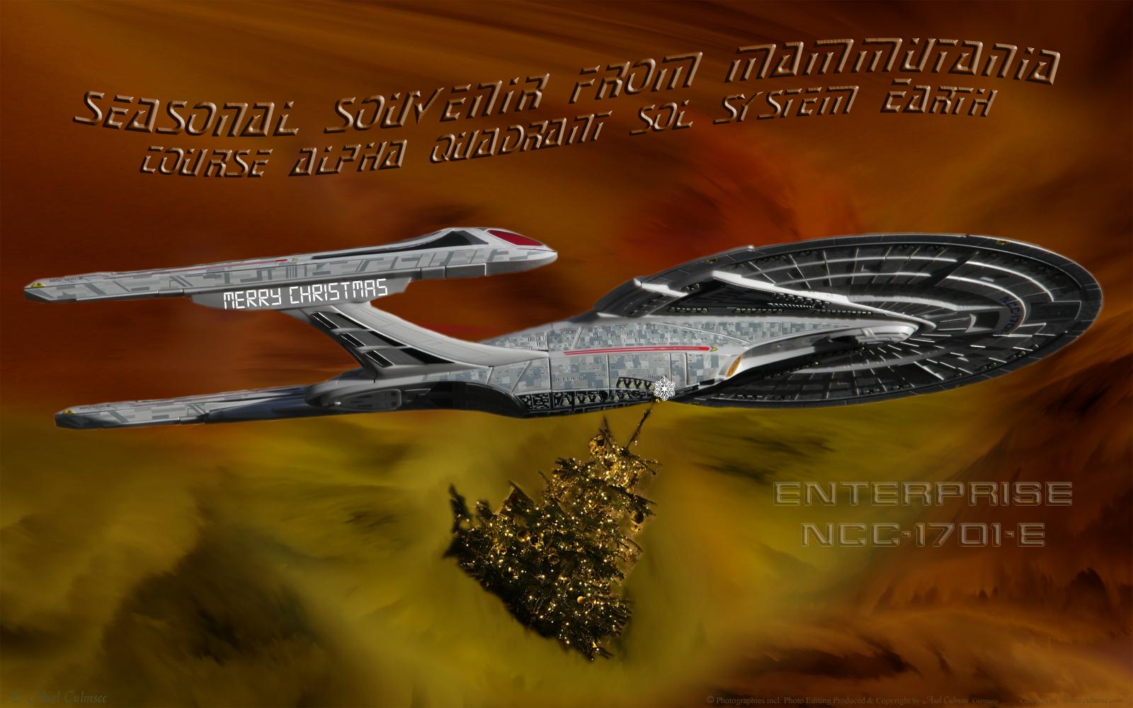 Enterprise-E NCC-1701-E seasonal souvenir from Mammutania course Alpha quadrant sol system Earth