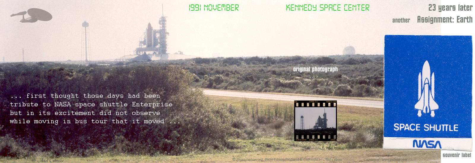 NASA Kennedy Space Center slides comparison November 1991