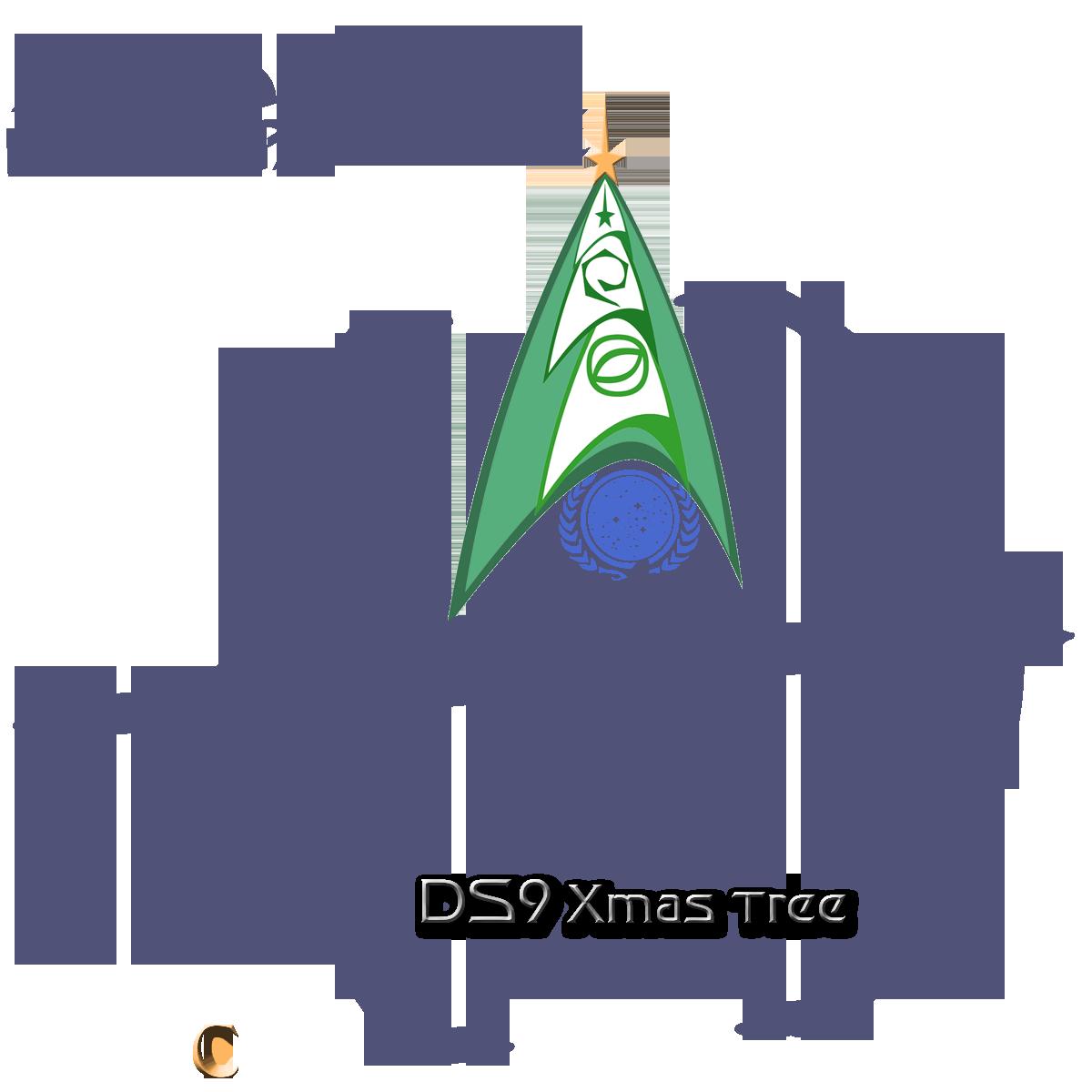 Trekkie DS9 Xmas inignia tree