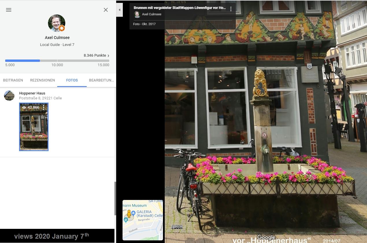 Celle Fachwerkhaus Hoppener Haus bei Google Maps von Local Guide Axel Culmsee 42k views