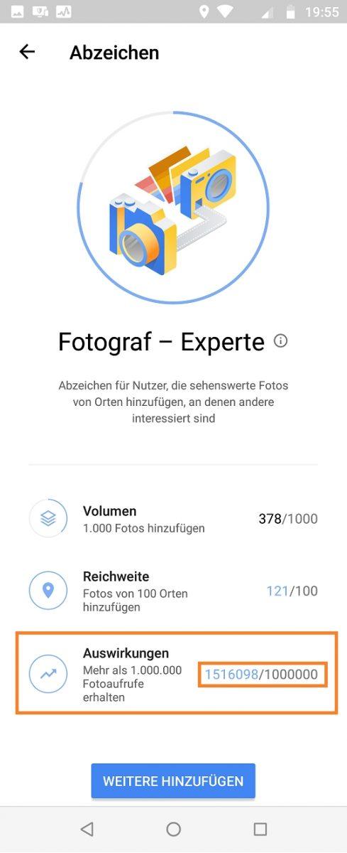 Google Maps Local Guide Fotograf-Experte 1500000 views