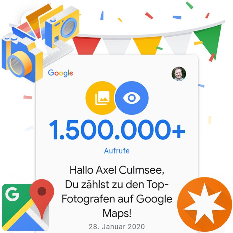 Google Maps Local Guide Fotograf-Experte 1500k views
