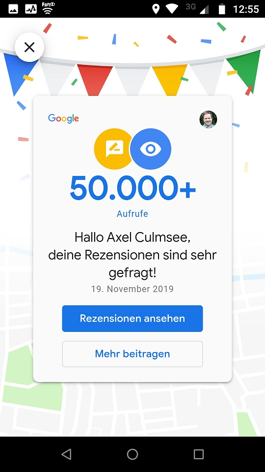 Google Maps Local Guide 50k views reviews Nov 2019