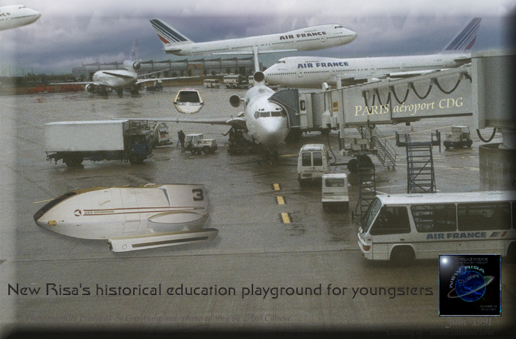 New Risa historical education playground for youngsters Paris 1991 aeroport CDG