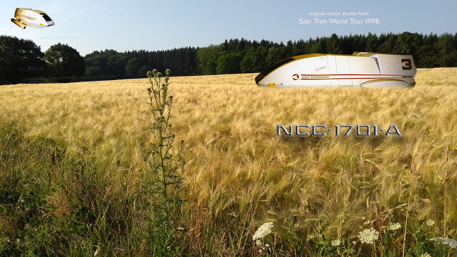 Copernicus - shuttle forced field landing timeline Star Trek World Tour Duesseldorf 1998