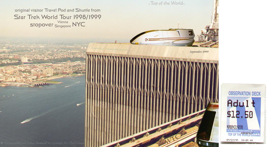 Star Trek World Tour 1998/1999 stopover NYC WTC 1999 Sept slide 6-22