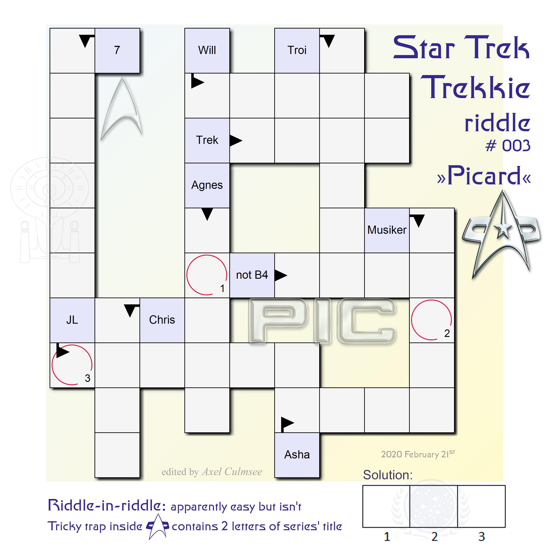 Star Trek Trekkie riddle 003 especially concerning Picard