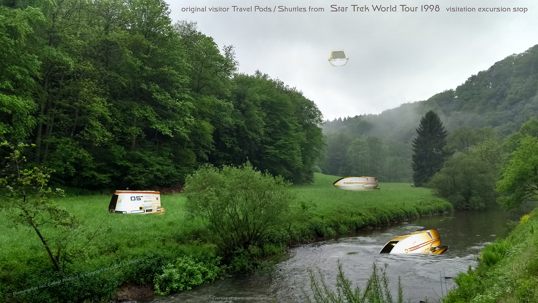 Shuttles Travel Pods timeline STWT 1998 Federation Science European Tour, Wied valley Western Forest