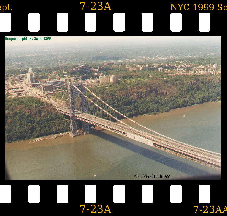 New York City 1999 September 12th helicopter flight slide 7-23A