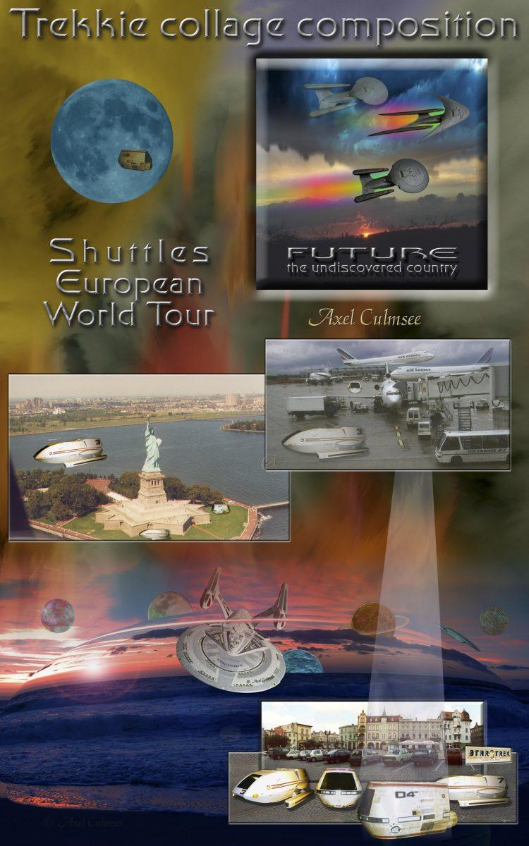 Trekkie collage composition, Cover eBook Amazon kdp Edition