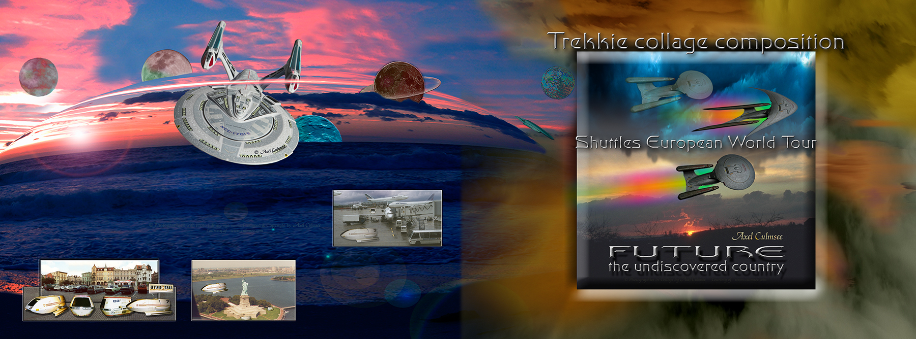 Trekkie collage composition, Cover paperback Amazon kdp Edition