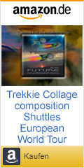 Amazon-Werbung-Sticker Paperback Trekkie collage composition