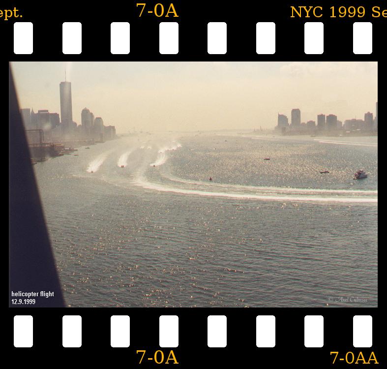 New York City 1999 September 12th helicopter flight Hudson slide 7-0A
