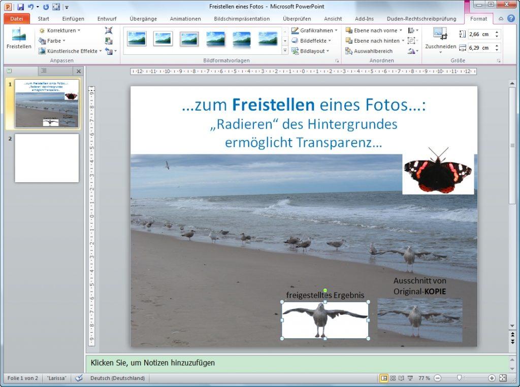 PowerPoint freistellen
