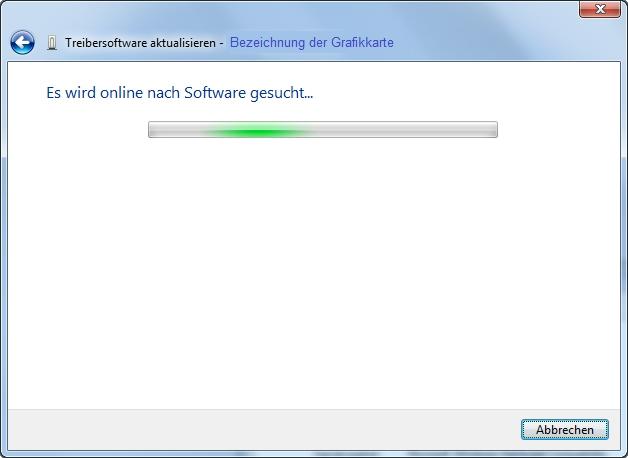 Monitor Grafikkarte Treiber-Suche